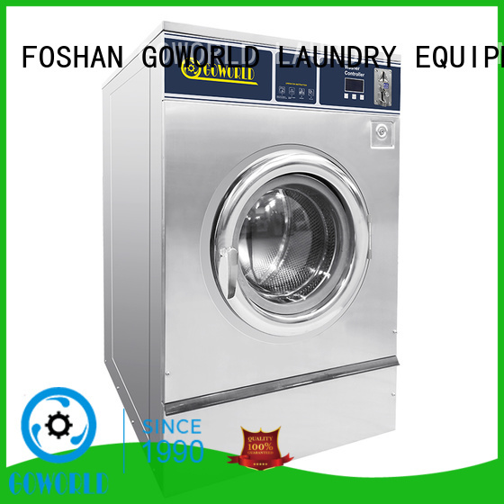 GOWORLD safe use self service laundry equipment steam heating for laundry shop