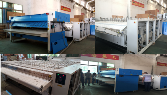 Come on! 4-Roller Flatwork ironer with Folding Machine