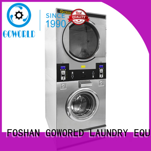 automatic self service laundry equipment combo natural gas heating for service-service center