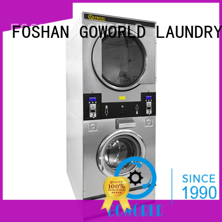 GOWORLD stainless steel self service laundry equipment LPG gas heating for hotel