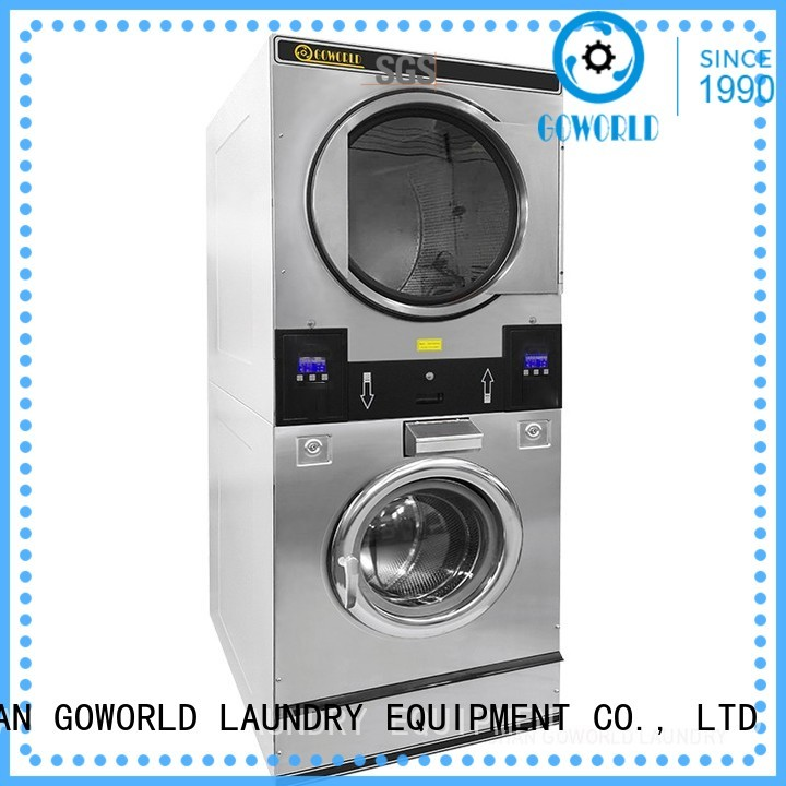 GOWORLD 8kg12kg stackable washer dryer combo steam heating for fire brigade