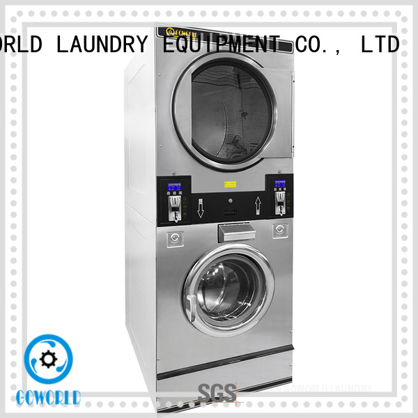 GOWORLD self laundry machine steam heating for school