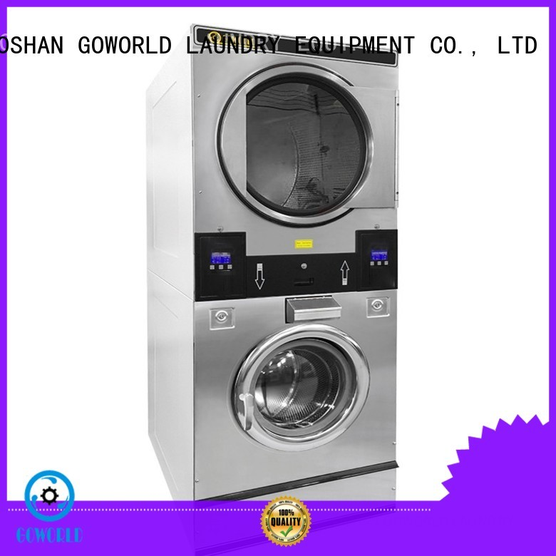 Energy Saving stacking washer dryer brigade electric heating for school