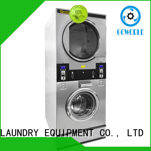 GOWORLD coin self washing machine natural gas heating for laundry shop