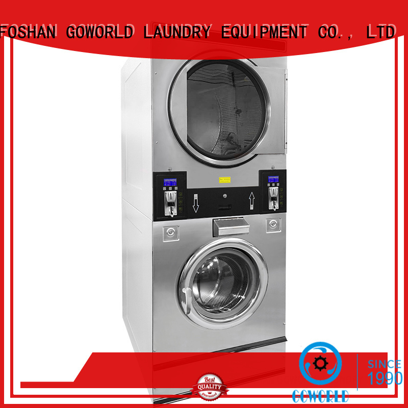 safe use self service laundry equipment double electric heating for hotel