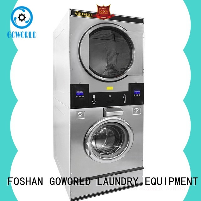 Manual stacking washer dryer laundromat supplier for school