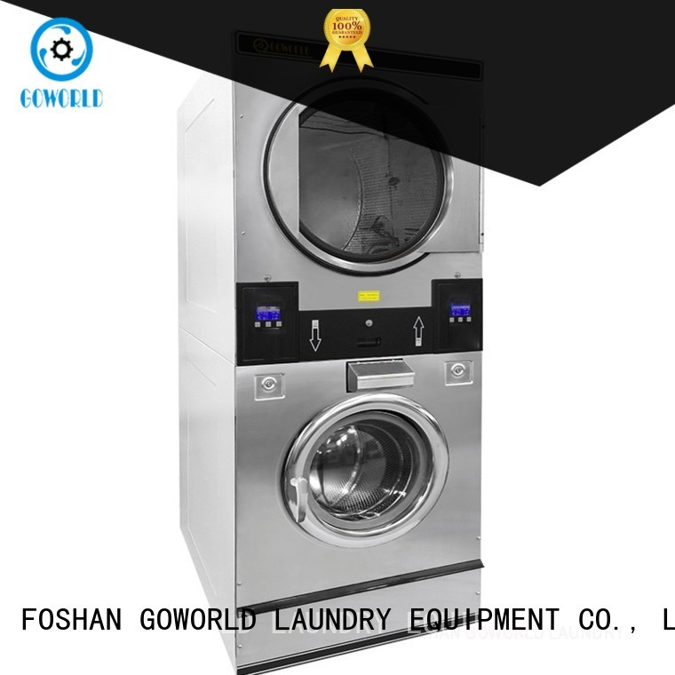 Low Noise stacking washer dryer washer supplier for commercial laundromat