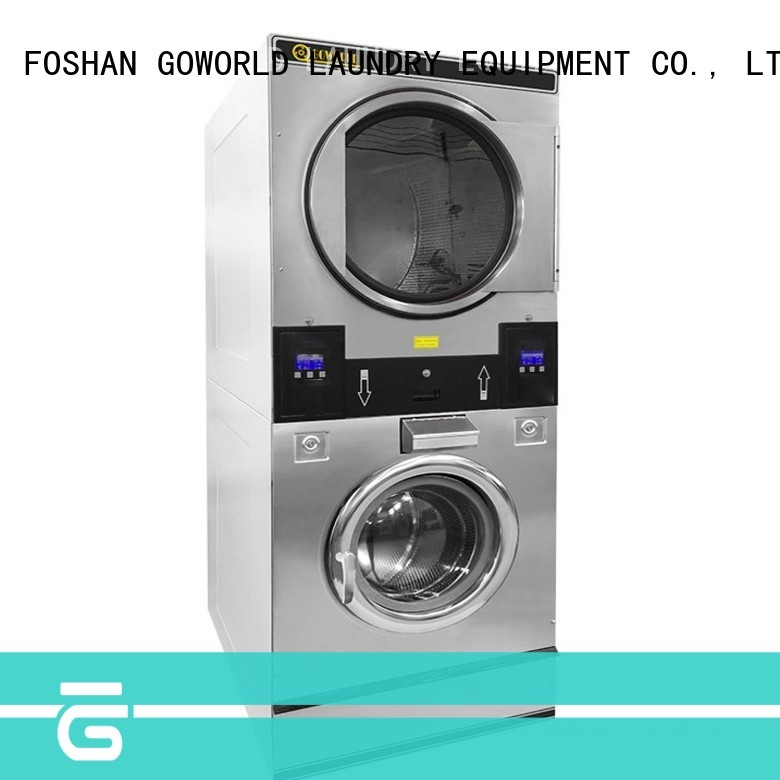Low Noise stackable washer and dryer sets dryer natural gas heating for laundry shop