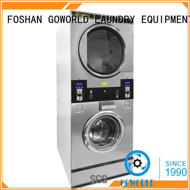 GOWORLD convenient self laundry machine steam heating for commercial laundromat