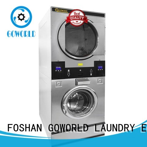 GOWORLD drying stacking washer dryer natural gas heating for laundry shop